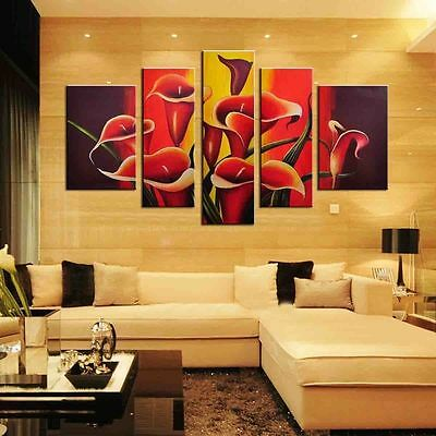 Flowers-EXTRA LARGE SPLIT FRAMED CANVAS PRINTS !!! Modern Exclusive Art Painting