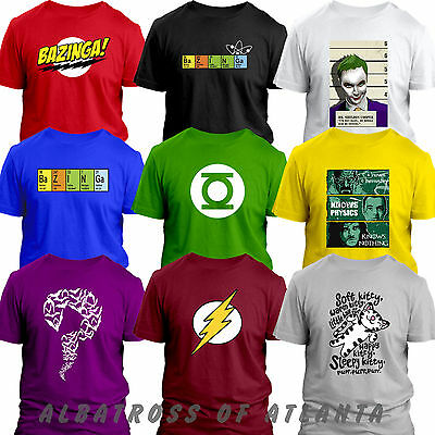BAZINGA BIG BANG THEORY SHELDON Flash Riddler Green Lantern Soft kitty T-shirt