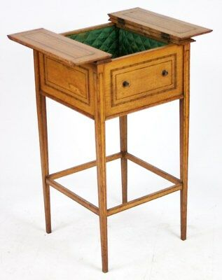 Antique Oak Sewing Table with Contents - FREE Shipping [PL1642]