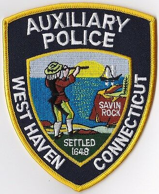 West Haven Auxiliary Police  Patch Connecticut CT NEW!