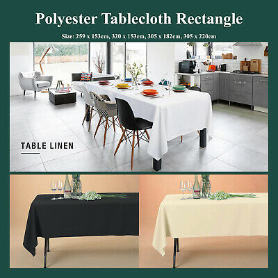 Rectangle Polyester Tablecloth 200GSM Table CoverCloth Economy Home Décor