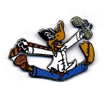 Pin's Looney Tunes (Les) Daffy Duck stress