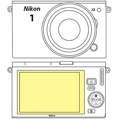 Martin Screen Protectors Fields Overlay Plus Screen Protector (Nikon J3)
