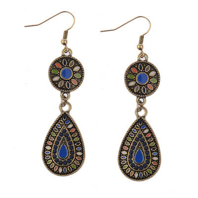 Fashion Multicolor  Vintage Bohemian Boho Style Glazed Drop Dangle Hook Earrings