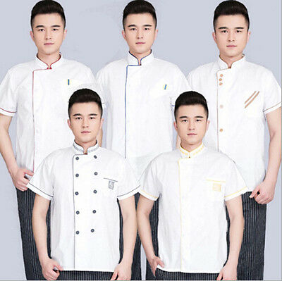 Short Sleeve Restaurant Hotel Working Chef Coat Clothes Summer Hot Uniform Cook