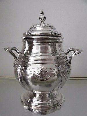 Gorgeous late 19th c french sterling silver sugar bowl Louis XIV st 619g 21,8oz