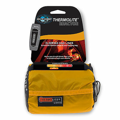 Sea to Summit Thermolite Reactor Sleeping Bag liner - Adds up 14°F