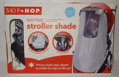 New SKIP HOP Naptime Stroller Sun Bug Shade Cover Detachable Clips Breathable