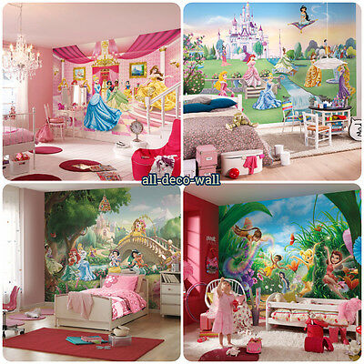MASSIVE Wall Mural Photo Wallpaper DISNEY FAIRIES PRINCESSES Girls Room Bedroom