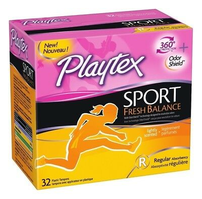Playtex Sport Fresh Balance Tampons, Regular Scented, 32 Count