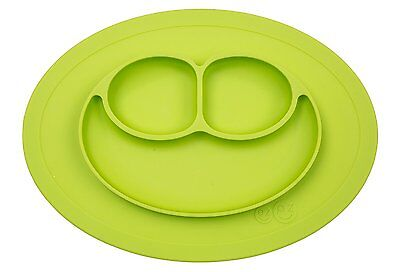 ezpz Mini Mat - One-Piece Silicone Placemat - Lime Green