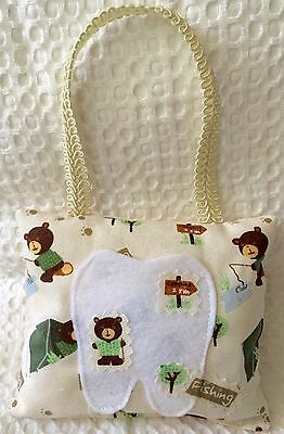 "*ONLY 1* ""FISHING"" - Tooth Fairy Pillow - NEW - Little Bear"