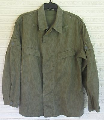 East German DDR Raindrop Strichtarn Camo Uniform Jacket K52 Large Short