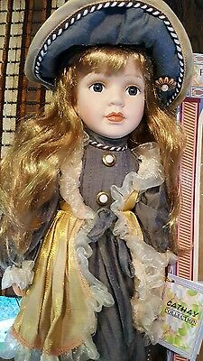 porcelain doll new in box Cathay Collection