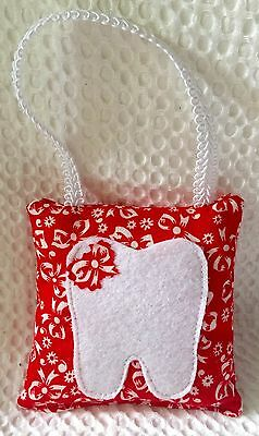 "** Pretty Bow"" - Tooth Fairy Pillow - NEW - Red"