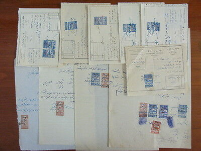 SYRIA SYRIE FRENCH Occ DJABEL Alaouites 10 Document W/ 16 Revenue Stamps