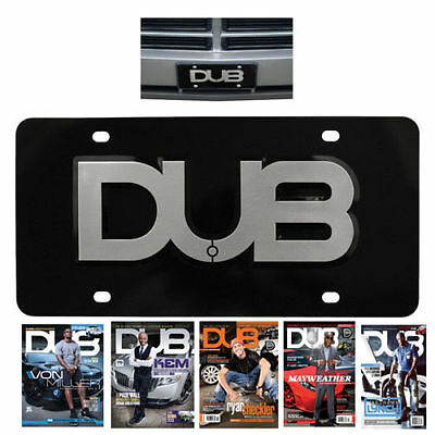 AUTHENTIC DUB EDITION AUTOMOTIVE Aluminum 3D License 1 Plate Black US SELLER