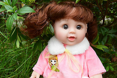 "12"" Bella Interactive Talking Baby Girls Doll Real Life Looking French European"