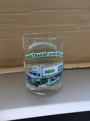 Hess Trailer And Racer Glass 1996 Near Mint Condition