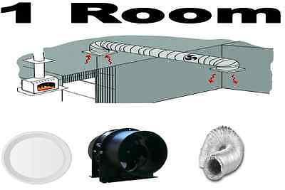 Heat Transfer Kit 1 Room To 1 Room Metal Fan Energy Saving Ventilation Kit
