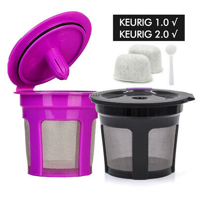 BRBHOM 1 6  9 Reusable K-Cup Refillable Coffee Filter Pod Cup for Keurig 2.0 1.0