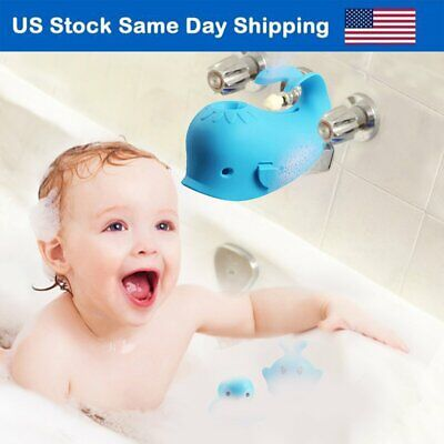 Baby Bath Spout Cover Faucet Protector Bathroom Bathtub Silicone Cover Toys Blue