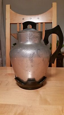 1930's Vintage International Castware Tea/Coffee Pot Pitcher with Handle & Stand