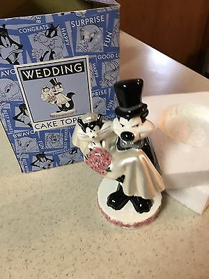 Pepe La Pew and Penelope Wedding Cake Topper~1997