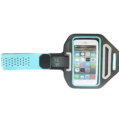 Sports Gym Running Slim Armband Holder Arm Strap Pouch Case for iPhone 6 6s Blue