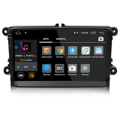 """Quad Core Android 2 Din 9"""" Car GPS Stereo Player For VW/Passat/POLO/GOLF/Skoda"""