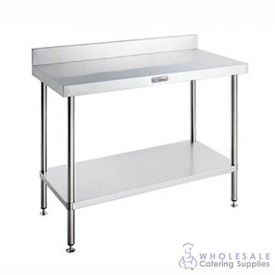 Simply Stainless Steel Workbench with Undershelf & Splashback 600x700x900mmSimpl