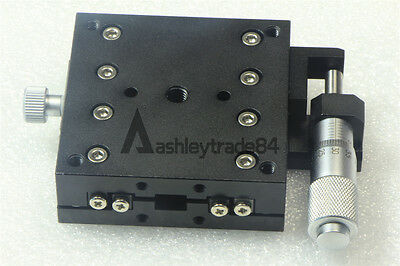 X-Axis Right Trimming Platform manual Linear Stage Slider Bearing 60*60mm