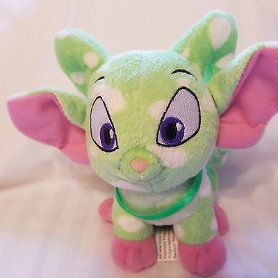"Neopets Green Spotted Plush Acara 6"" Stuffed Animal"