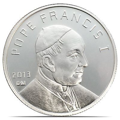 2013 Pope Francis I Vatican City Proof-Like 1 Troy oz .999 Silver Coin (P021)