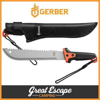 Gerber Hunting Camping Survival Compact Clearpath Machete Knife + Sheath