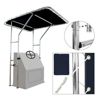 Aluminum T Top Bimini Canopy for Centre Console Boat 1.4 x 1.7m Up to 1.05m wide