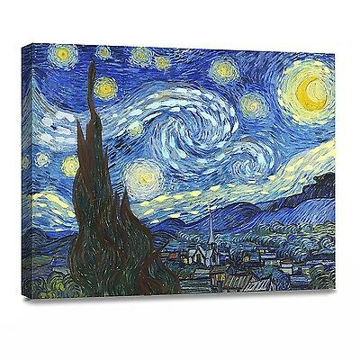 ArtKisser Oil Painting Starry Night 1889 By Vincent Van Gogh Canvas Wall Art