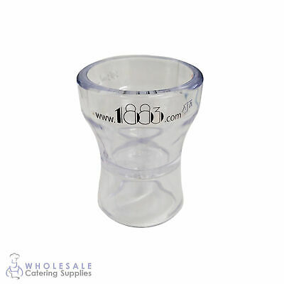 "Double Jigger 30mL / 15mL Clear Acrylic ""1883"" Branded Shot Measure Nip Bar"