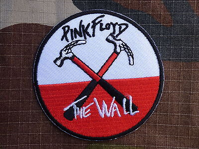 ECUSSON PATCH toppa aufnaher THERMOCOLLANT PINK FLOYD the wall rock /Diam 7.2 cm
