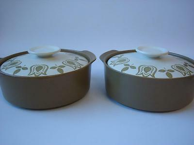 J & G MEAKIN TULIP TIME 2 x LIDDED TUREENS