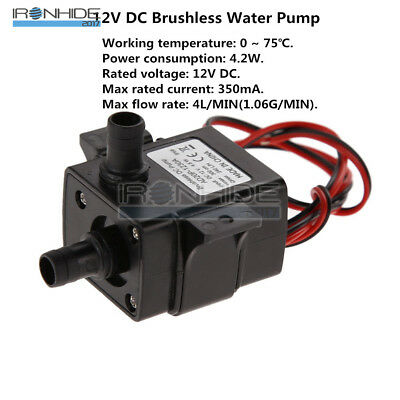 DC12V  Ultra Quiet Brushless Motor Submersible Pool Water Pump Solar 240L/H