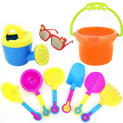 9pcs Beach Sand Tools Toys Bucket Set For Toddler Kids Children Outdoor Toys