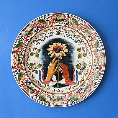 RAM ARNHEM - Dutch Art Pottery Wall Plaque 32.5cm - Signed B J Gescher - Gouda