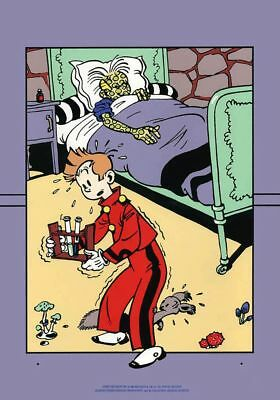 Affiche Sérigraphie Spirou et Fantasio Fantasio malade Archives Internationales