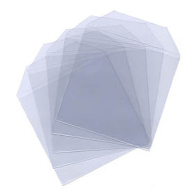50 50x Clear Plastic Sleeves with Flap - High Quality Holds 1 Disc CD/DVD/BD