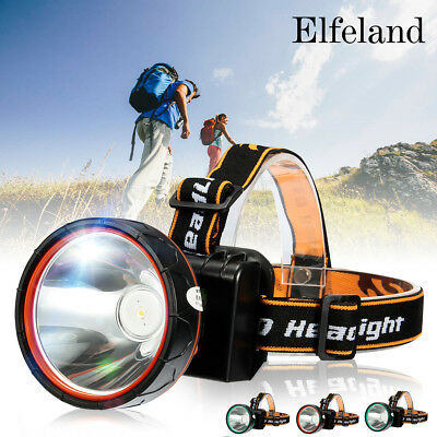 Elfeland 20000Lm LED Lampe Frontale Rechargeable Headlight 18650 Batterie Vélo