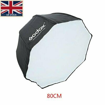 "UK Godox 32"" 80cm Octagon Umbrella Flash Softbox Studio Reflector Speedlite"