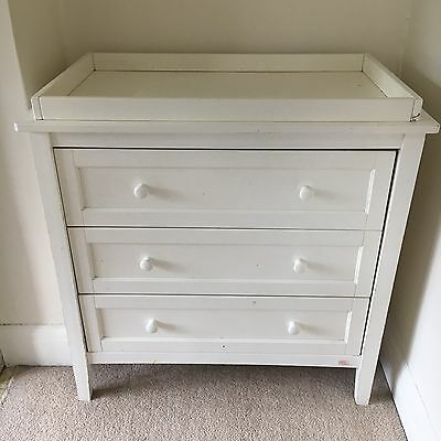 baby changing table dresser chest of drawers white picclick uk. Black Bedroom Furniture Sets. Home Design Ideas