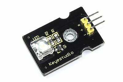 Keyestudio 8mm White LED Module KS0016 Arduino 5V DC Pi Piranha Flux Workshop