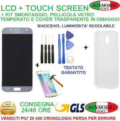 Display LCD Touch Screen Vetro Samsung Galaxy J5 2017 SM-J530F Silver + Cover